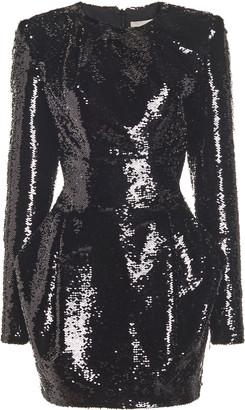 Alexandre Vauthier Sequined Draped Mini Dress