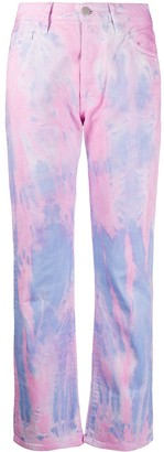 Aries Lilly tie-dye jeans