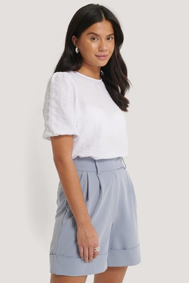NA-KD Structured Short Sleeve Blouse
