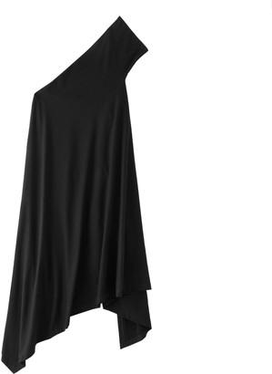 Voya Alrai Black Asymmetric Midi Dress