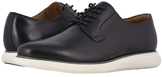 Florsheim Fuel Plain Toe Oxford II (Black Smooth/White Sole) Men's Shoes