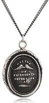 Pyrrha Unisex 925 Sterling Silver Wings of Friendship Talisman Necklace