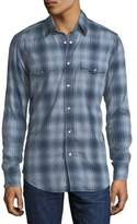 Tom Ford Prince of Wales Plaid Western Shirt
