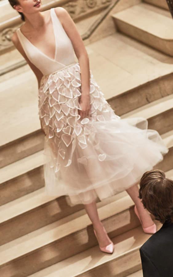Carolina Herrera Heidi Tea Length Dress