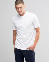 Farah Polo Shirt In Regular Fit In White