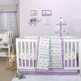 The Peanut Shell Ellie Patch 4 Piece Crib Bedding Set