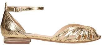 Bibi Lou Flats In Gold Leather