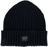 Paul & Shark ribbed beanie - men - Virgin Wool - One Size