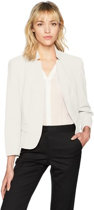 Nine West Women's Solid Crepe KISS Front Jacket