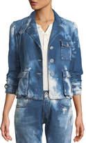 Ralph Lauren Isabele Coastal Denim Safari-Style Jacket