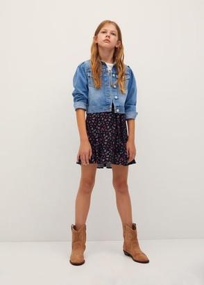 MANGO Floral print skirt
