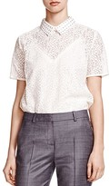 The Kooples Collared Lace Top
