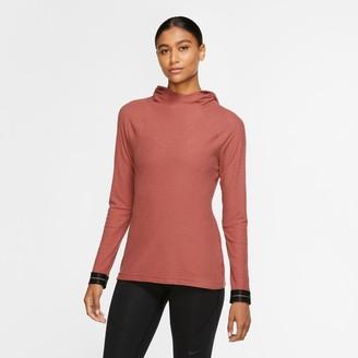 Nike Women's Pro Icon Clash Warm Hooded Long-Sleeve Training Top