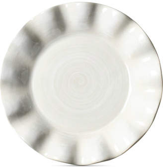 Coton Colors by Laura Johnson Signature Ruffle Round White Salad Plate