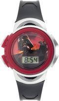 Disney Star Wars Darth Vader Kids Black Plastic Strap Digital Watch