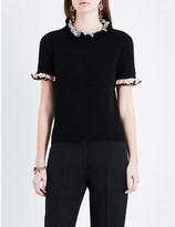 Alexander McQueen Frilled cashmere top