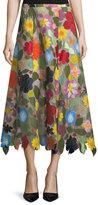 Rosie Assoulin Hodges Podges A-Line Skirt