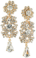 ABS by Allen Schwartz Gold-Tone Crystal Cluster Chandelier Earrings