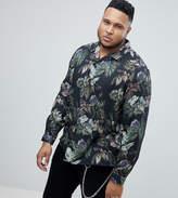 Asos Plus Regular Fit Viscose Floral Shirt