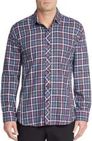 Jared Lang Men's Regular-Fit Plaid Cotton Sportshirt