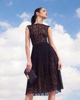 Michael Kors Paisley-Lace A-Line Dress