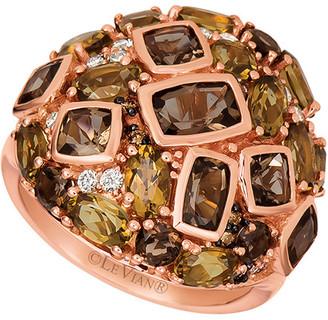 LeVian Le Vian 14K Rose Gold 4.77 Ct. Tw. Diamond & Chocolate Quartz Ring