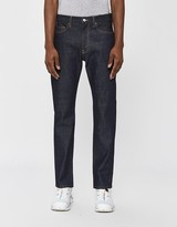 Jeanerica Men's Tapered 5-Pocket Jean in Blue Raw, Size 28