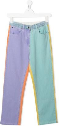 Stella Mccartney Kids TEEN heart patch jeans