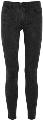 Frame Le Skinny De Jeanne python-print jeans