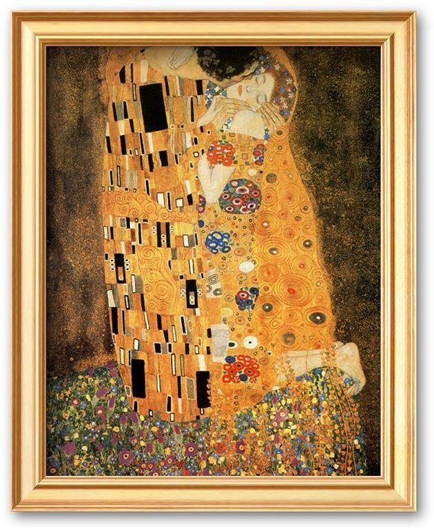 """Gustav Art.com """"the kiss, c.1907"""" framed art print by klimt"""