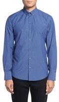 Zachary Prell Men's Harter Trim Fit Plaid Sport Shirt