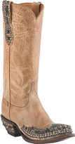 Lucchese Women's Since 1883 M4602. S82F Rounded Spring Toe Stud Wingtip Boot