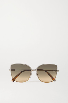 Givenchy Cat-eye Silver- And Gold-tone And Tortoiseshell Acetate Sunglasses