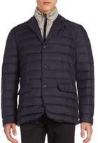 Jet Lag Solid Blazer Puffer Coat