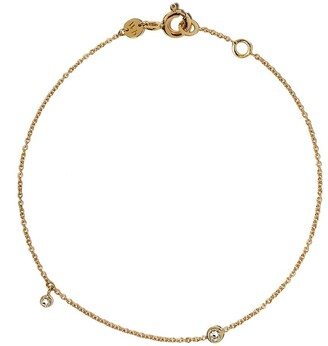 White Bird 18kt Yellow Gold Diamond Chain Bracelet