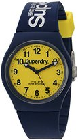 Superdry 'Urban' Quartz Plastic and Silicone Dress Watch, Color:Blue (Model: SYG164UY)