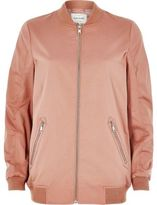 River Island Womens Dusty pink bomber jacket
