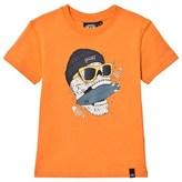 Animal Orange Graphic Skate T-Shirt