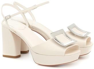 Roger Vivier Bikiviv' leather platform sandals