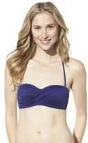 Mossimo Women's Mix and Match Molded Cup Bandeau Swim Top -Indigo Night