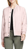 Vince Camuto Crew Neck Rumpled Light Weight Bomber Jacket