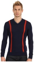 DSquared DSQUARED2 Extrafine Wool Long Sleeve V-Neck Sweater Men's Sweater