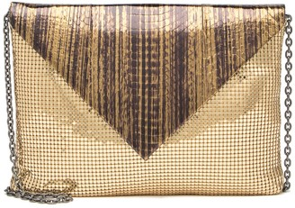 Whiting & Davis Snake Embossed Chainmail Envelope Clutch
