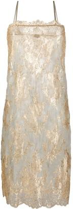 Dolci Follie Metallic Slip Dress