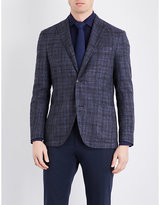 Boglioli Checked Relaxed-fit Wool Silk And Linen-blend Jacket