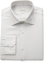 Perry Ellis Portfolio Men's Slim Fit Adjustable Collar Performance Stripe Dress Shirt