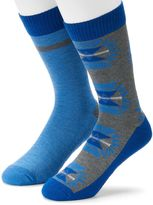 Levi's Men's 2-pack Solid & Patterned Cushioned Crew Socks