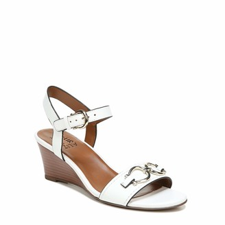 Naturalizer Womens Sonia White Leather Ankle Straps 11 M