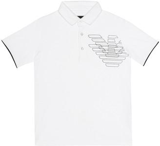 Emporio Armani Kids Logo stretch cotton shirt