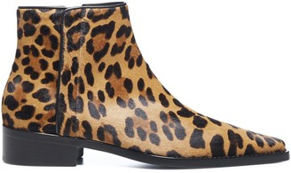 Dolce & Gabbana Leopard Pointed Toe Ankle Boots